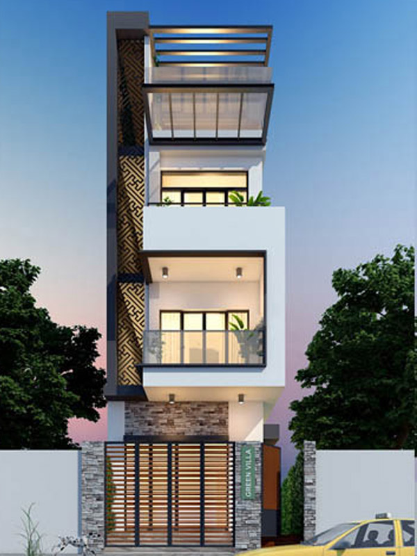 Mẫu nhà phố 3 tầng 027