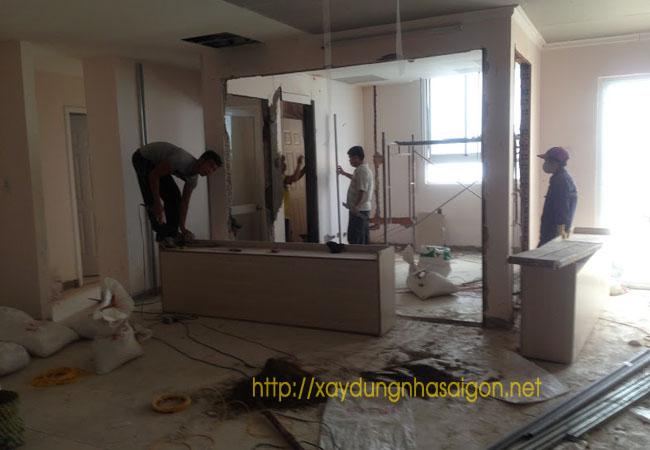 Sửa nhà, sơn nhà, thay cửa mới