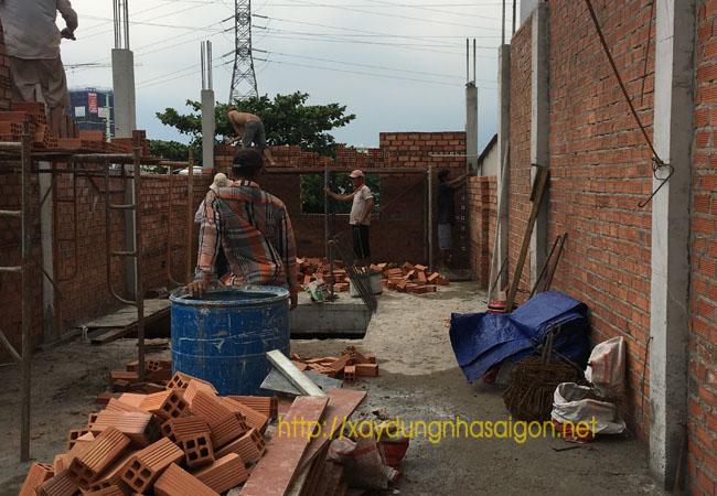 Xây dựng nhà phố phần thô Quận 12