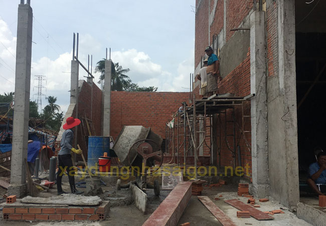 Thi công xây dựng nhà trọn trọn gói