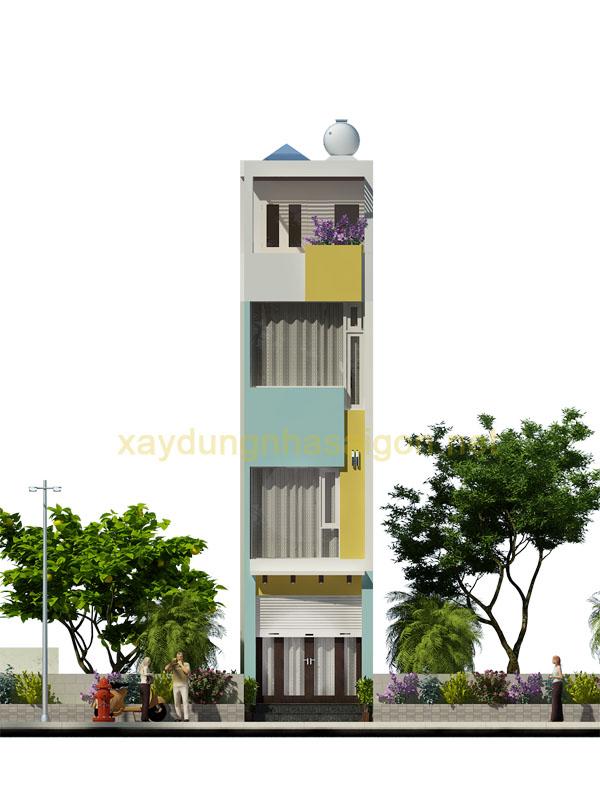 Thiết kế nhà phố 3 tầng Quận 10