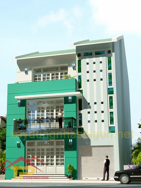 Thiết kế nhà phố 3 tầng Quận 8