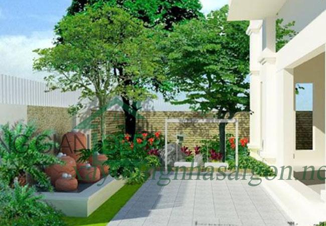 Thiết kế bố trí cây xanh quanh nhà