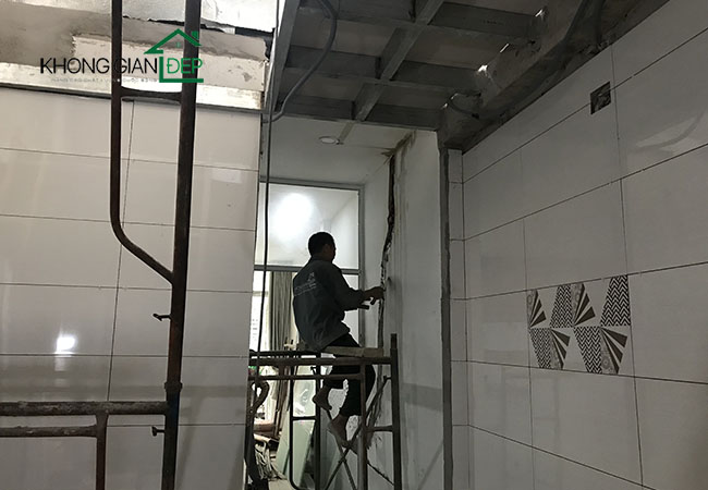Thi công nhà đúc giả quận Tân Phú – Anh Trung