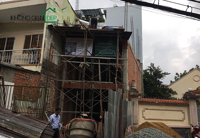 Thi công nhà trọn gói Quận Gò Vấp - Chị An