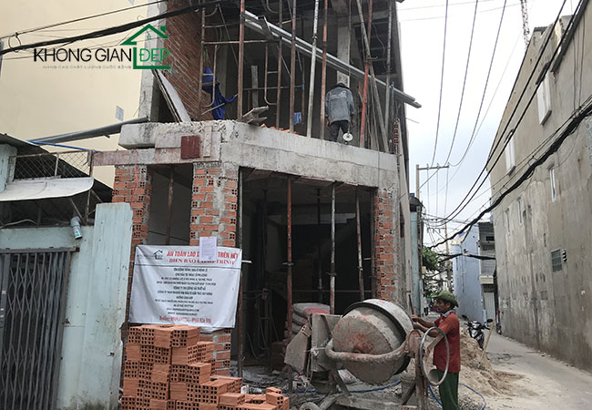Thi công xây nhà trọn gói quận Tân Phú – Anh Long