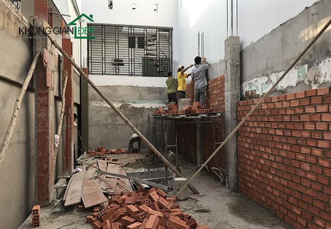 Thi công xây dựng phần thô Gò Vấp - Anh Tiến